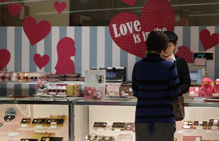<center><b>Японцы готовятся ко Дню святого Валентина</center></b>