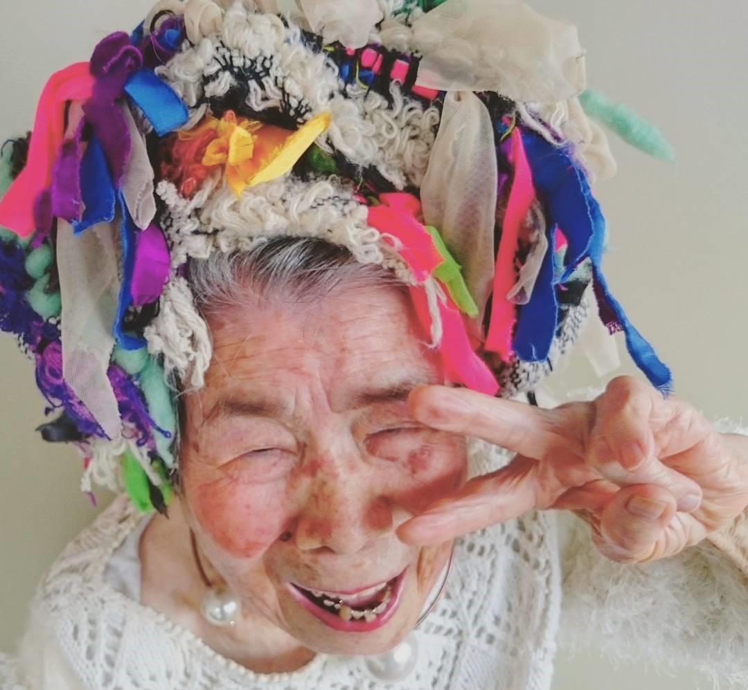 93-летняя модель из Японии