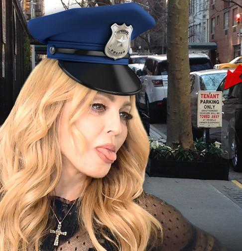 <center><b>Мадонну заставили убрать самодельную парковку</center></b>