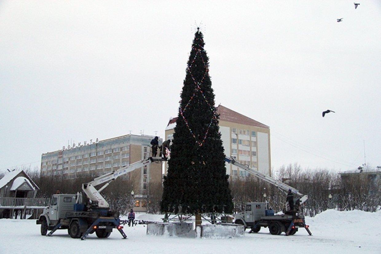 Воркутинская елка начала лысеть до праздника