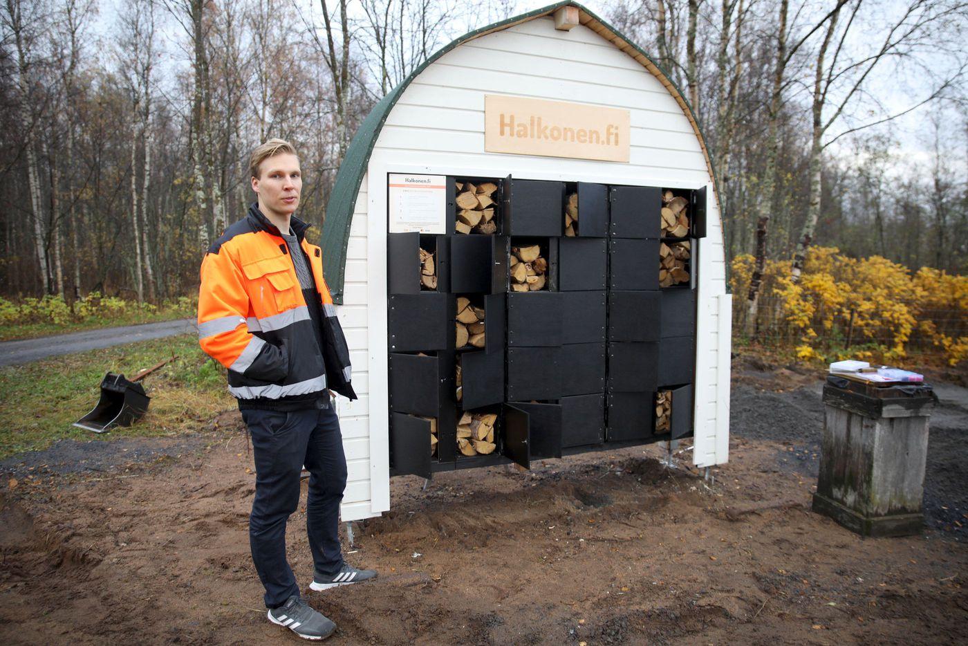 В Финляндии заработали автоматы по продаже дров